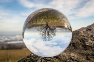 glass ball telling the future